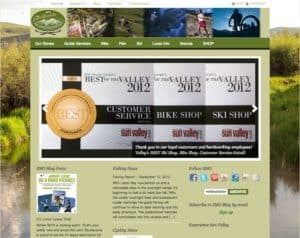 Custom website and ecommerce solution for Sturtevants Mountain Outfitters, Sun Valley, Idaho