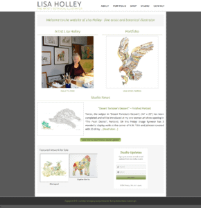 Lisa Holley Studio – 2015 Redesign