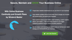 WordPress website Maintenance and online business growth plans from Wirebird Media